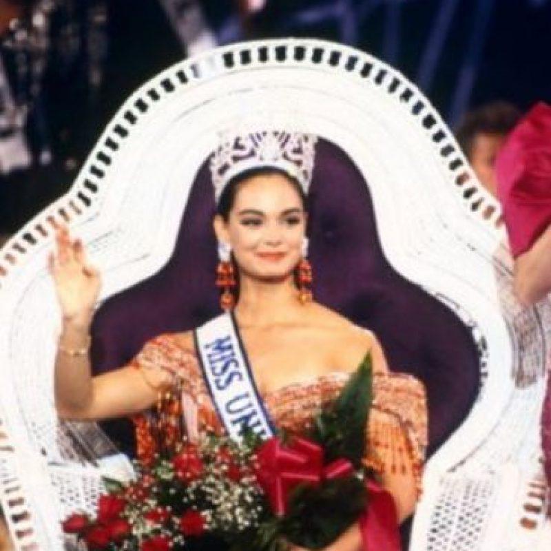 Lupita Jones ganó Miss Universo en 1991. Foto:Getty Images