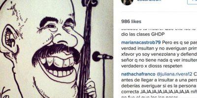 Pero aún así, la polémica sigue en la cuenta de Instagram del intérprete. Foto:vía Instagram/oscardleonoficial