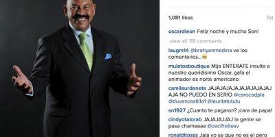 Muchos ni siquiera se detuvieron a analizar si era el verdadero presentador. Foto:vía Instagram/oscardleonoficial