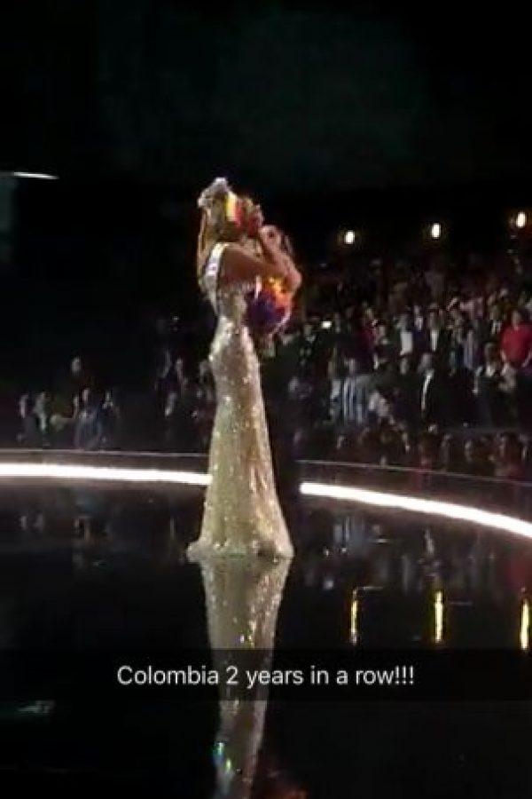 Que significaba la segunda victoria consecutiva de Colombia Foto:Snapchat – Miss Universe