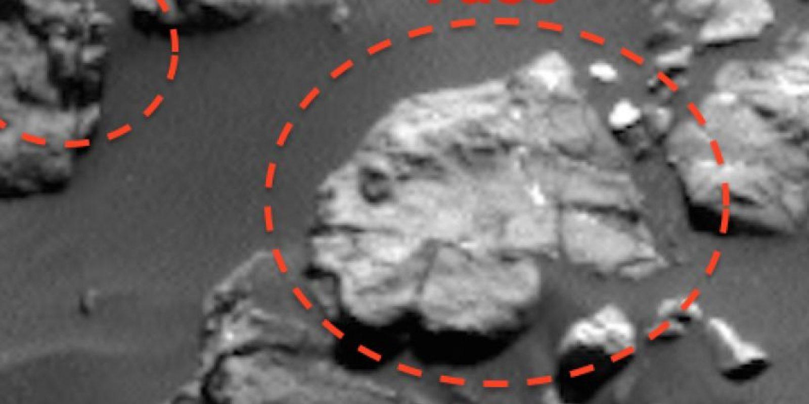 """Este es el supuesto """"rostro humano"""" encontrado en Marte Foto:NASA"""