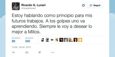 Foto:Captura de pantalla Twitter @ricardolunari