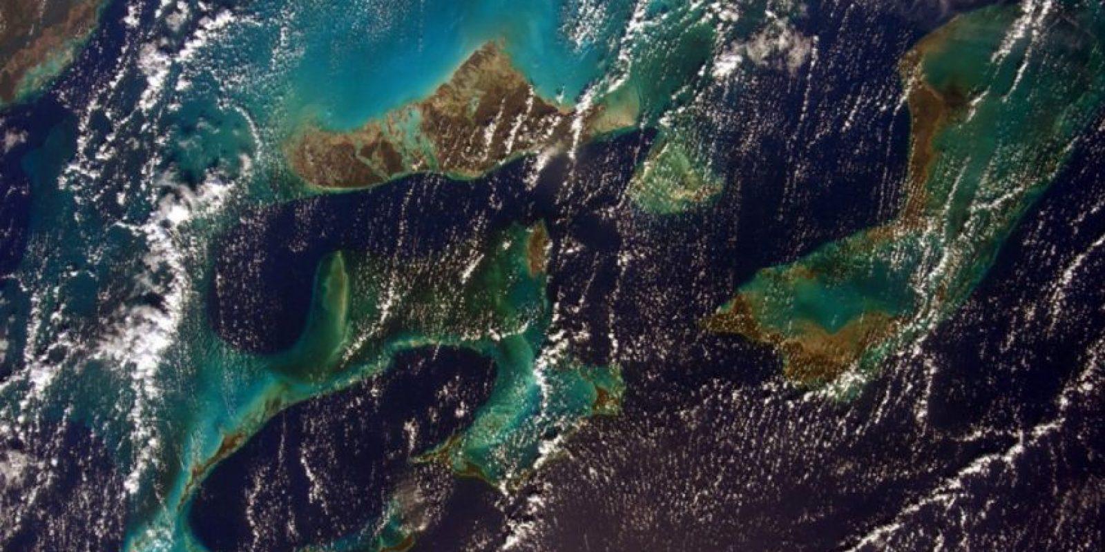 Antes de su regreso a la Tierra, la astronauta Sam Cristoforetti compartió una foto del Caribe. Foto:Vía Twitter @AstroSamantha