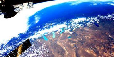 El día sobre la Patagonia. Foto:Vía Twitter @StationCDRKelly
