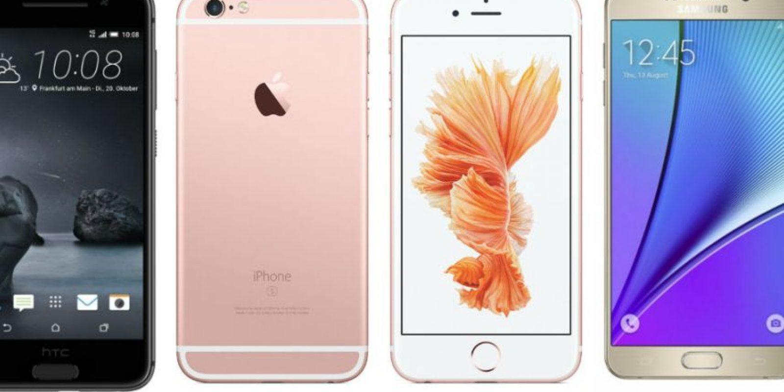 Estos son los smartphones más deseados. Foto:HTC/Apple/Samsung