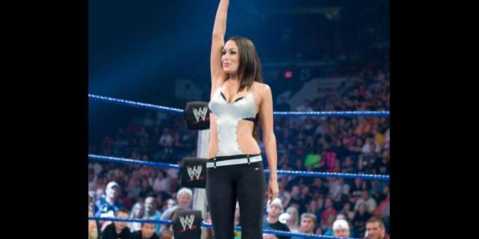 Brie Bella. Debutó en 2008 Foto:WWE