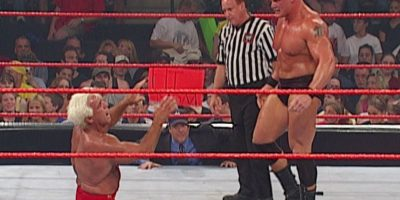 Ric Flair se refiere a una pelea que sostuvo contra un novato Brock Lesnar en 2002 Foto:WWE