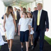 Según declaró Melania, la tercera esposa de Trump, Barron es más parecido a su padre Foto:Getty Image