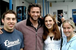 Patrick Stewart en esta foto de un grupo de fans con Hugh Jackman Foto:Imgur