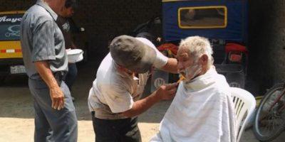 Luciano Chumán fue bañado, vestido y arreglado. Foto:Vía facebook.com/municipalidaddeferrenafe