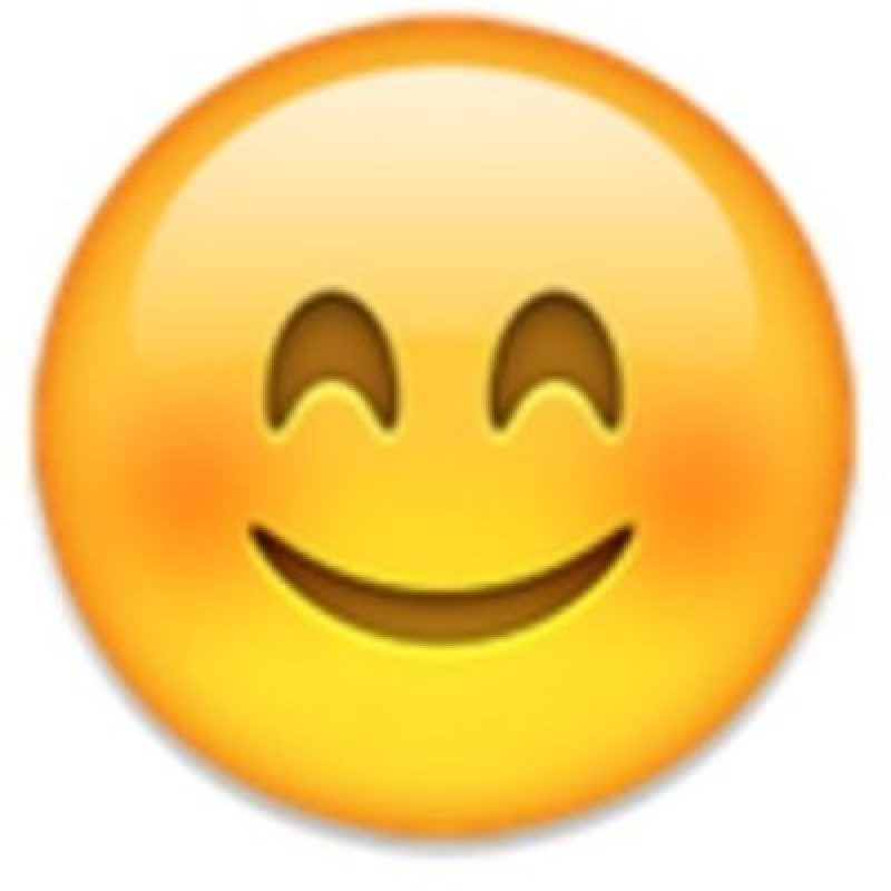4- Cara con ojos sonrientes. Foto:vía emojipedia.org