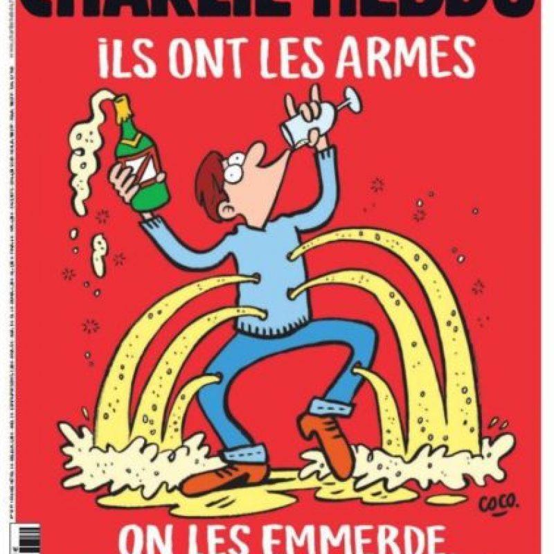 Esta es la portada del semanario tras los atentados en París del viernes 13 de febrero. Foto:Charlie Hebdo