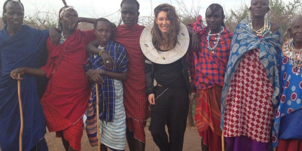 Natalia Durán se fue de voluntaria a África