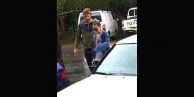 Estas fueron las primeras imágenes de la pareja en Australia. Foto:Twitter