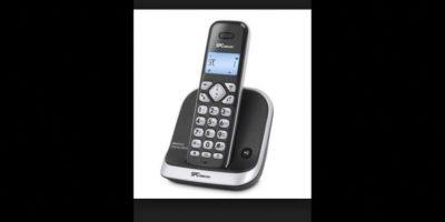 7. Un teléfono inalámbrico mide aproximadamente 16 cms (6 pulgadas) Foto:Wikimedia