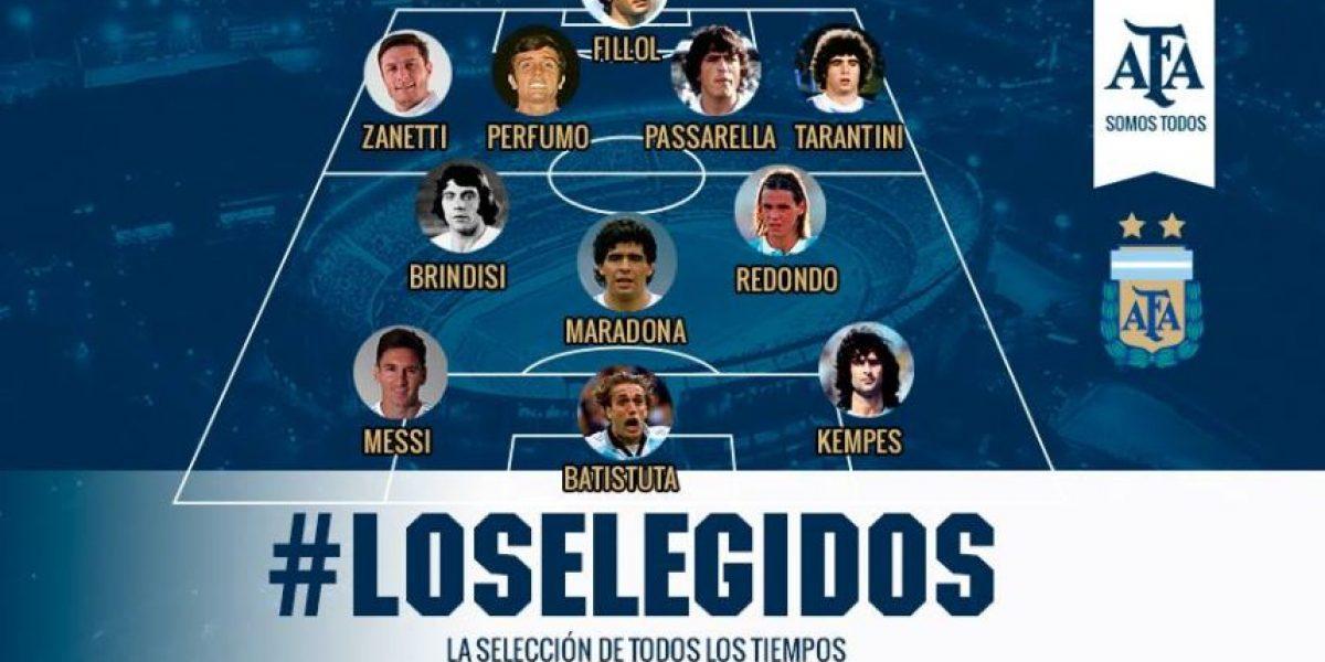 Lionel Messi encabeza el 11 ideal histórico de Argentina