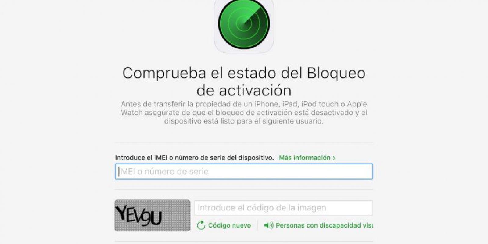 Ahora es sencillo conocer si un iPhone es robado. Foto:vía icloud.com