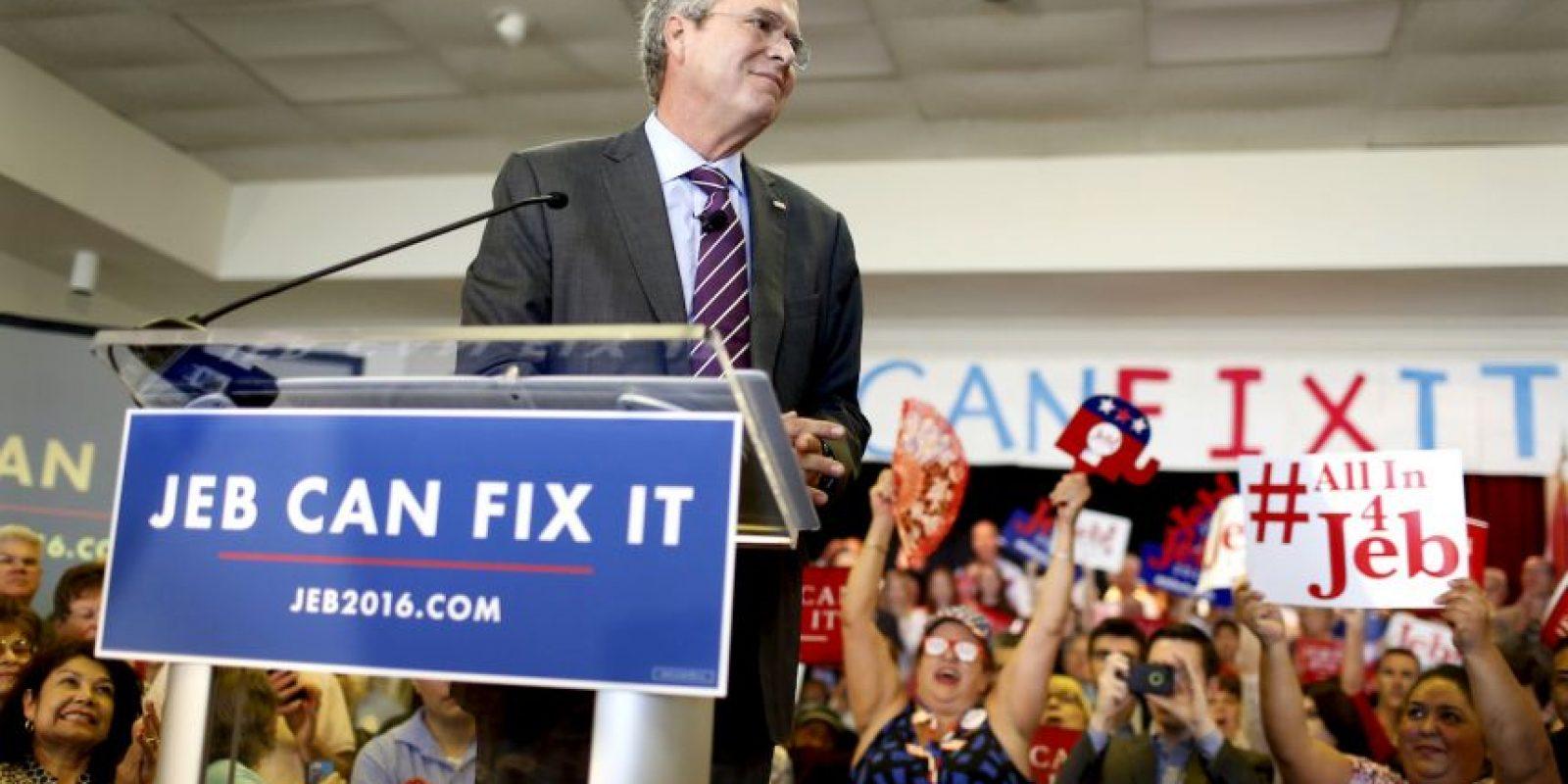 La candidatura de Jeb Bush, en declive desde el inicio Foto:Getty Images