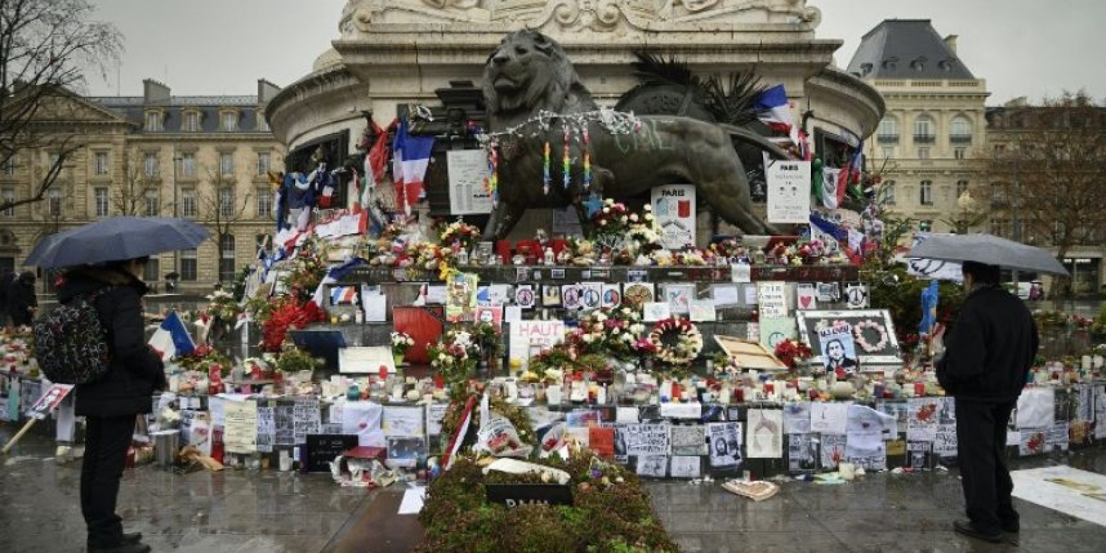 Así como en monumentos histórico s Foto:AFP