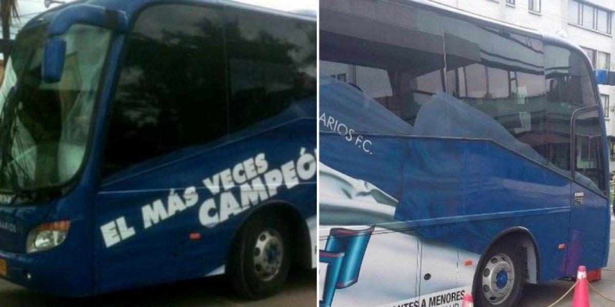 El bus de Millonarios sin la leyenda