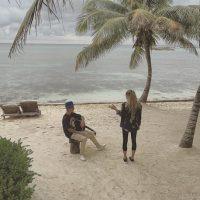 ¿El resultado? Una romántica serenata en el caribe mexicano. Foto:Instagram/justinbieber