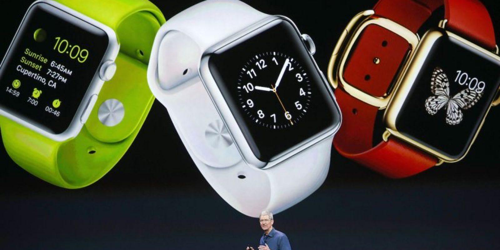 En la presentación del Apple Watch. Foto:Getty Images