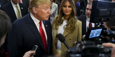 Melania es la tercera esposa del precandidato Donald Trump Foto:Getty Images