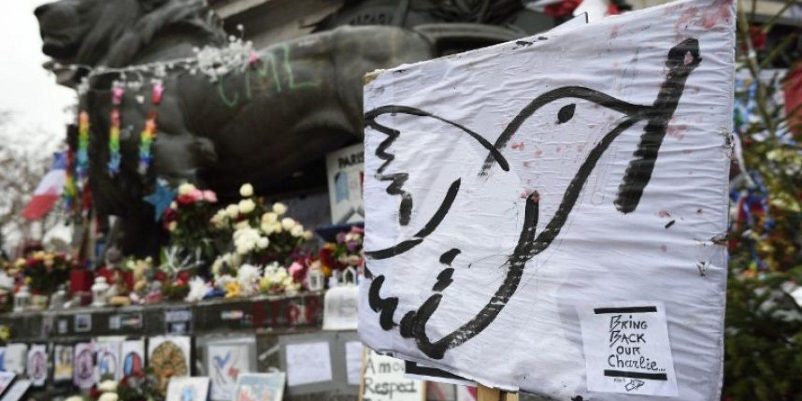 Así se veían las calles de París a un año del ataque a Charlie Hebdo. Foto:AFP