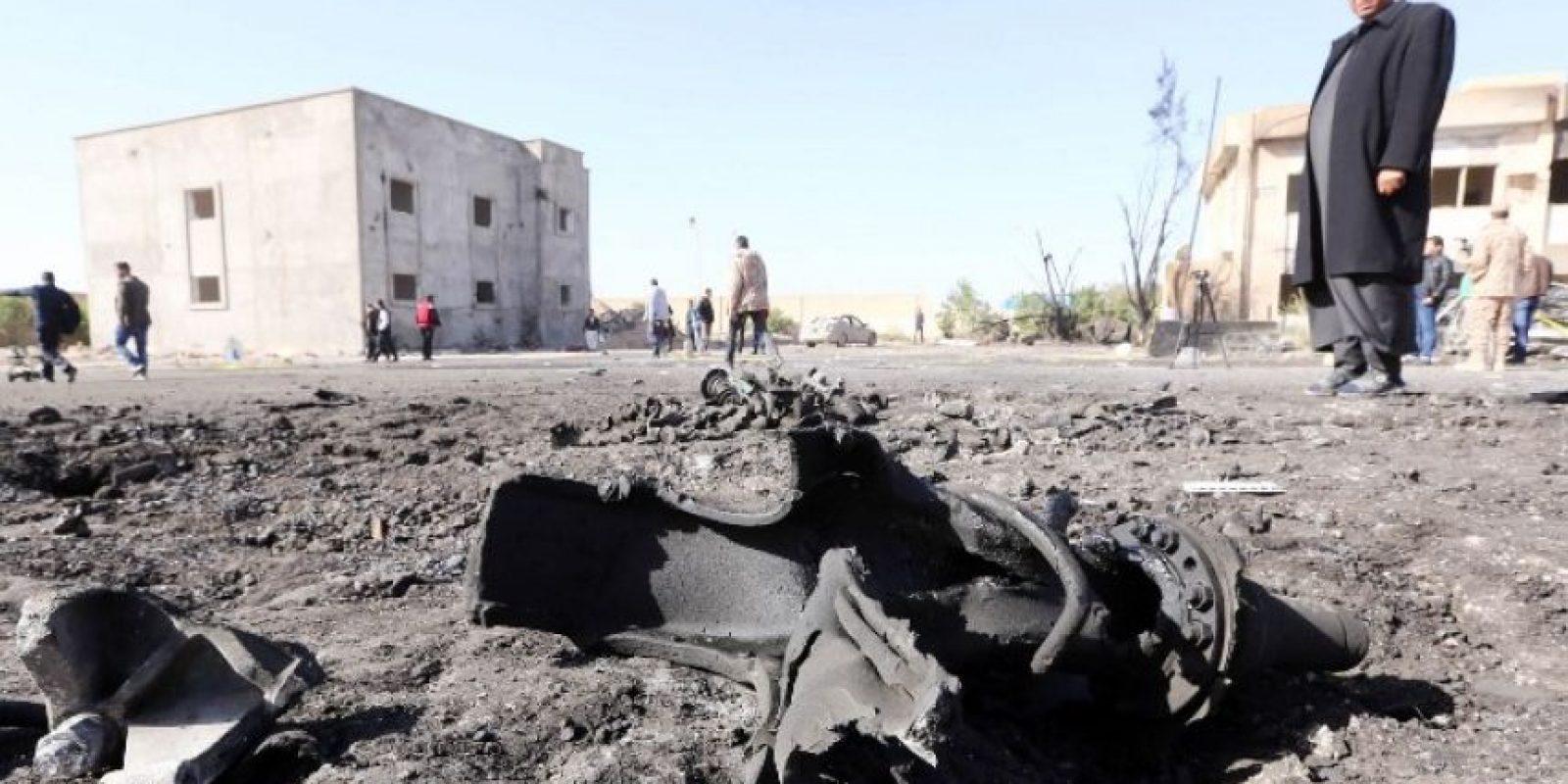 Un autobús bomba explotó cerca de una escuela policial en Libia Foto:AFP
