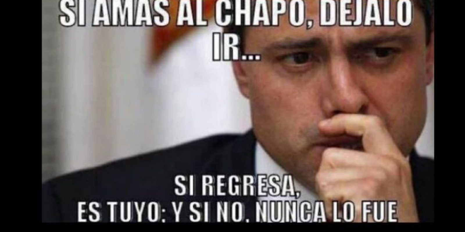 O a Enrique Peña Nieto y a la vergüenza mundial que pasó el año pasado por la fuga. Foto:vía Twitter