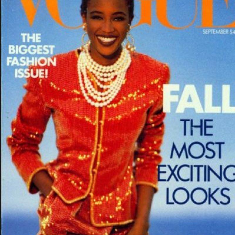 Fue, aparte de Iman y otras pocas modelos afro, una de las pocas modelos que destacaron por su raza. Foto:vía Vogue