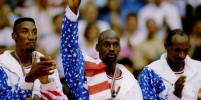 "7. El ""Dream Team"" de Barcelona 92 se bañó en oro Foto: Getty Images"