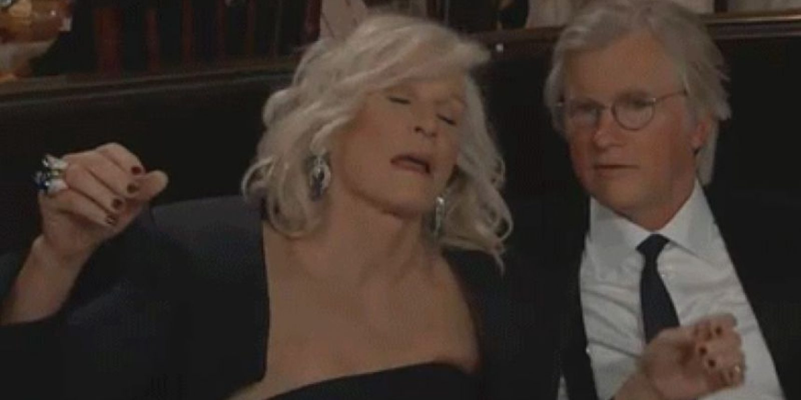 "En esa ceremonia Glenn Close actuó muy ""borracha"" Foto: NBC"