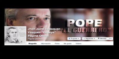 """Cerró su página de Facebook en agosto del año pasado. Foto:vía Facebook/John Jairo Velásquez Vásquez """"Popeye"""""""
