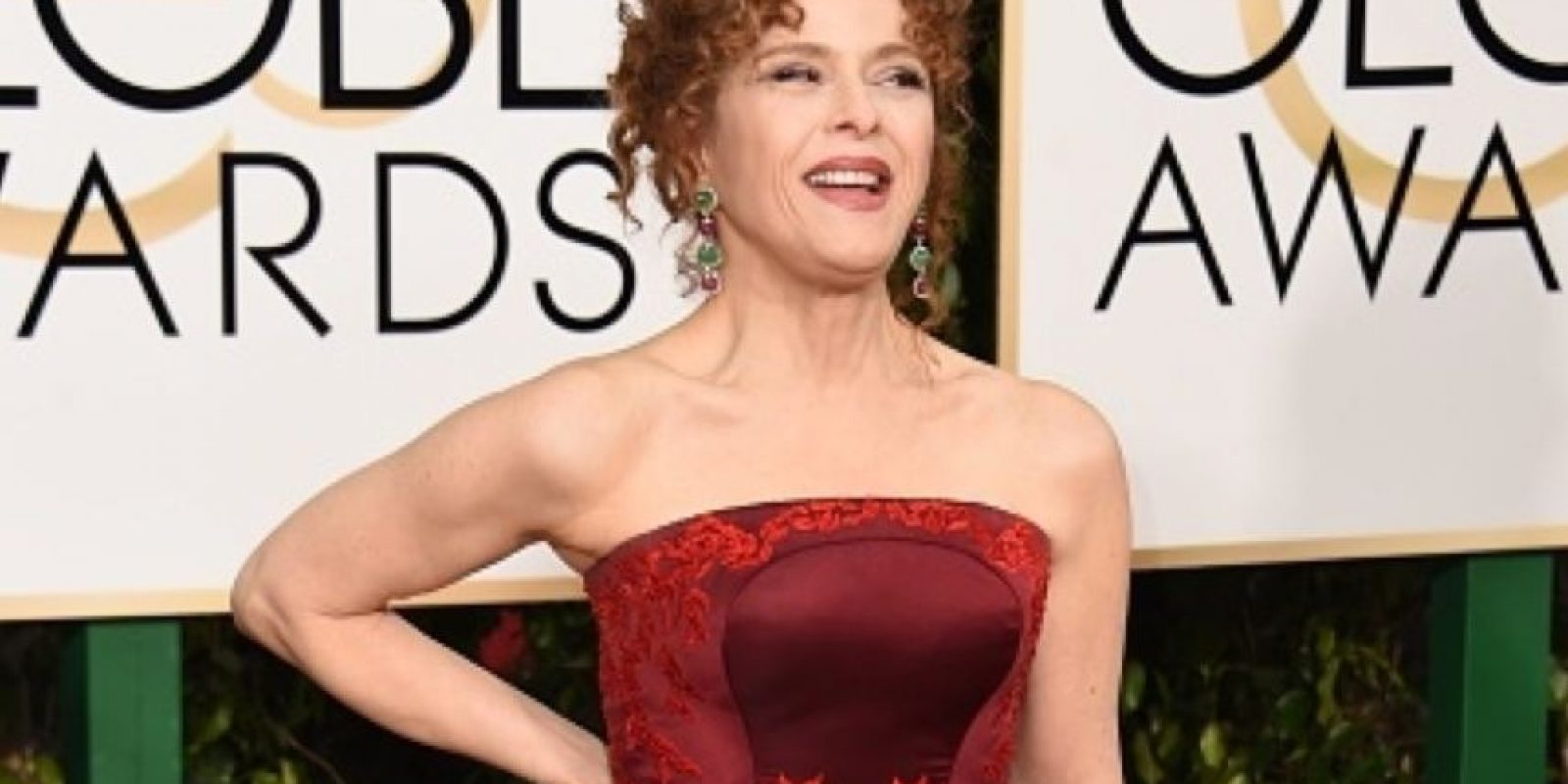Bernardette Peters, en un vestido que realmente se ajusta muy mal a su cuerpo. Foto:vía Getty Images