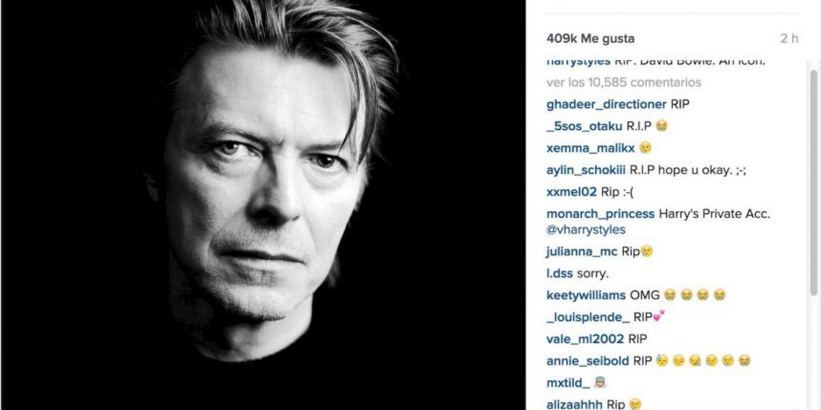 """Harry Styles: """"Descanse en Paz. Un ícono"""" Foto:Instagram.com"""