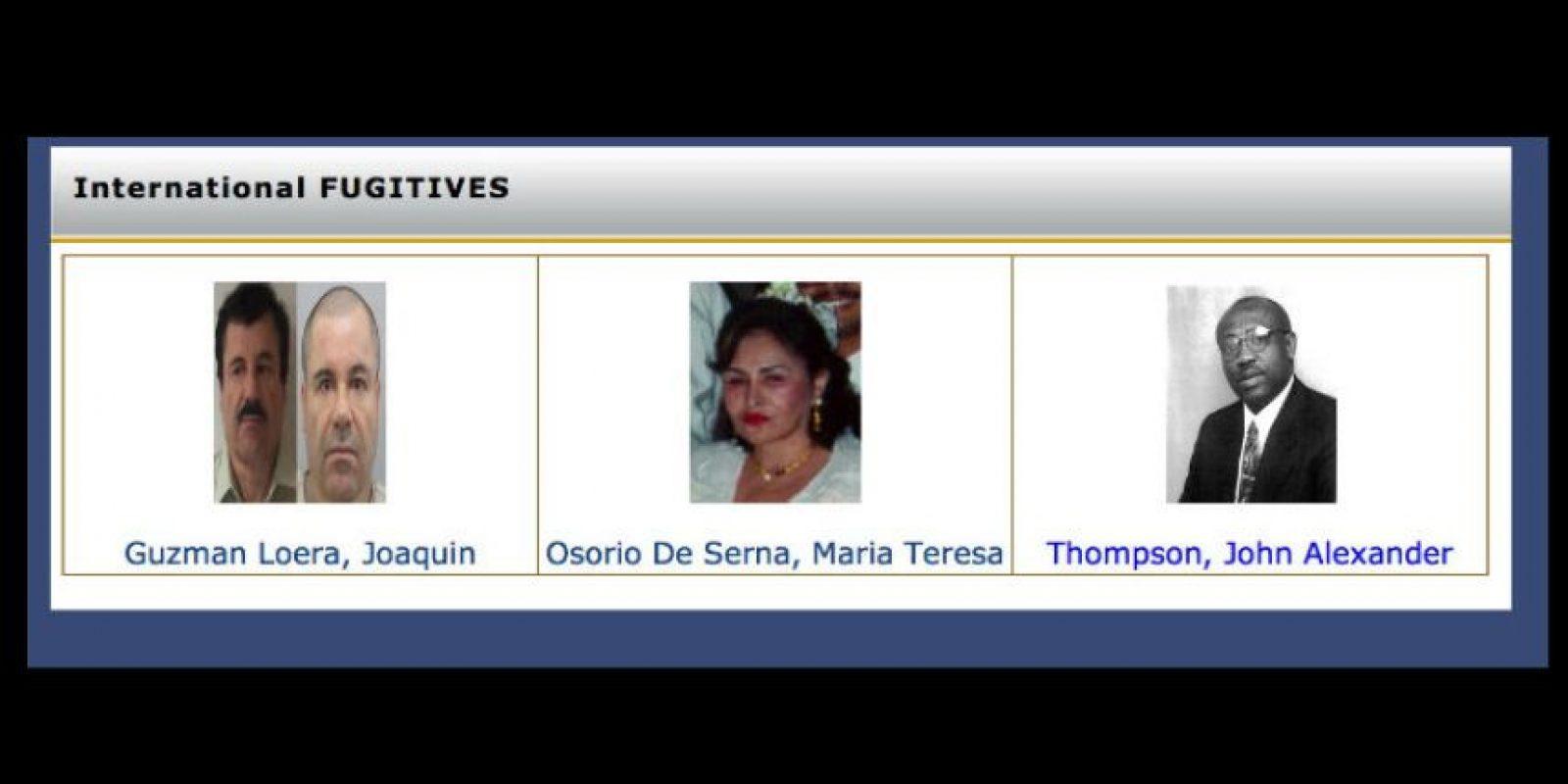 """Antes de la captura de """"El Chapo"""" Guzmán así estaba armada la lista. Foto:dea.gov"""