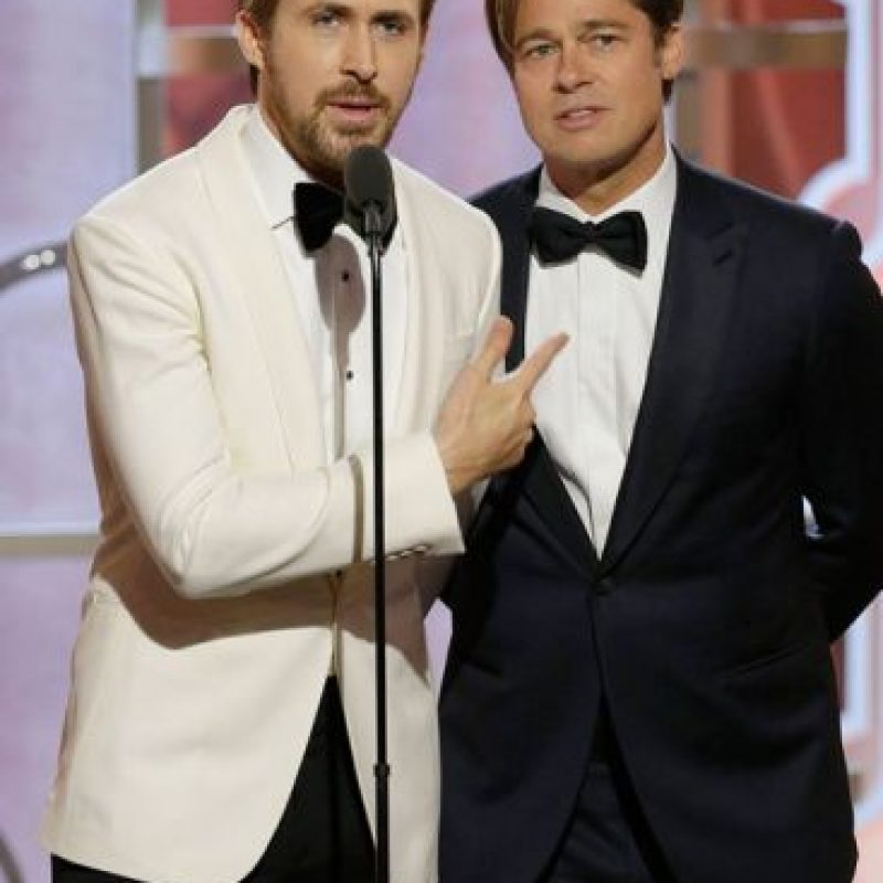 Ver a Ryan Gosling y a Brad Pitt les hizo la noche a muchas. Foto:vía Twitter
