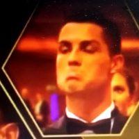 Así fue la reacción de Cristiano Ronaldo cuando Messi ganó su quinto Balón de Oro Foto:Twitter