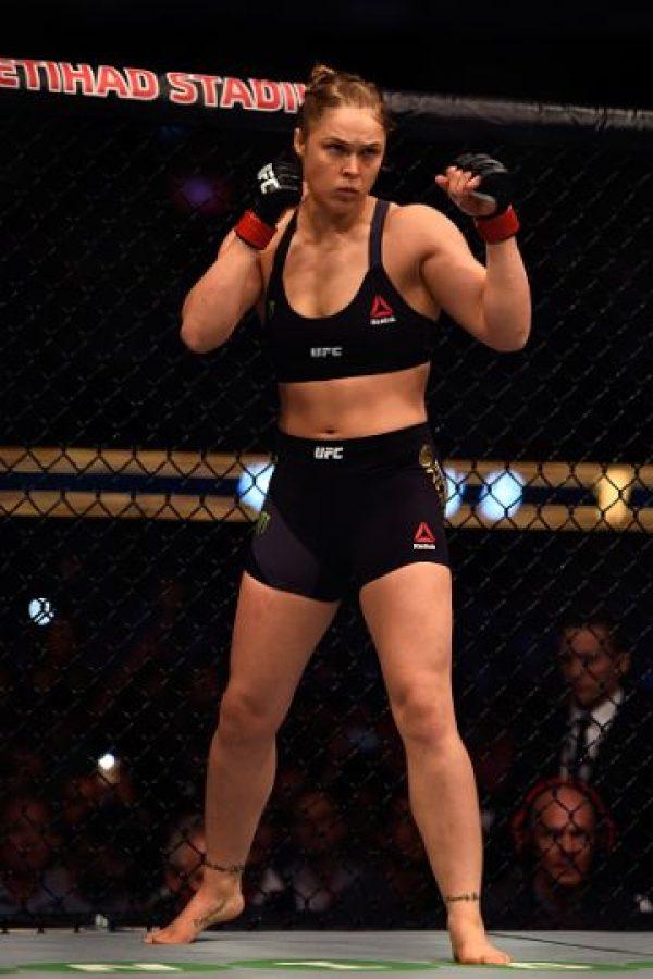 Aunque Ronda Rousey ya no es la campeona de la UFC, sigue siendo la estrella más mediática de esta compañía. Foto:Getty Images