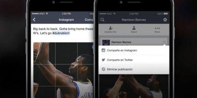 Comparten actualizaciones en Facebook, Instagram y Twitter, todo desde una sola aplicación. Foto:Facebook