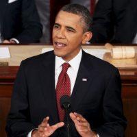 En 2012, el presidente número 44 se presentaba de nuevo ante el Congreso. Foto:Getty Images