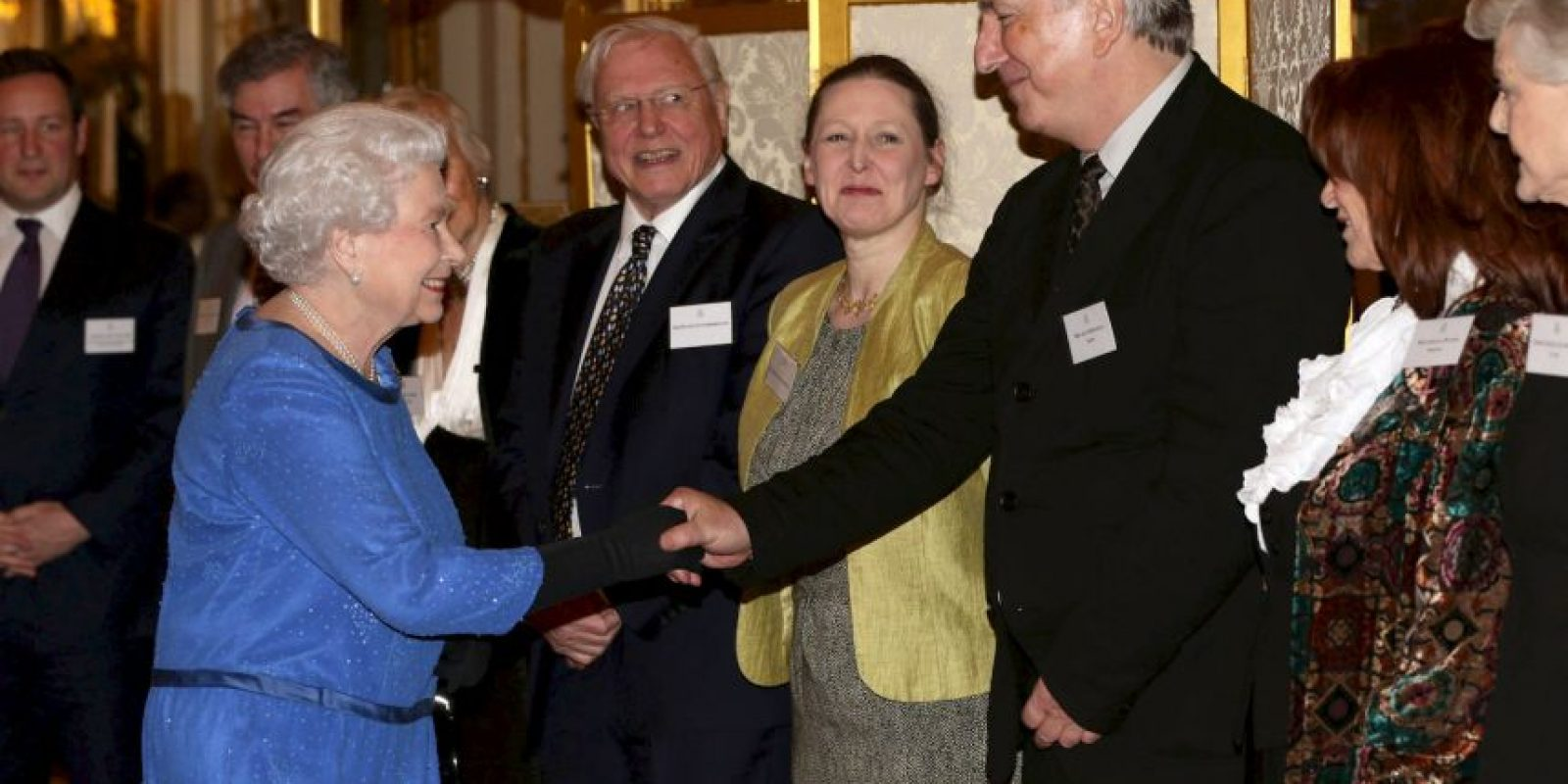 2014, con la Reina Elizabeth II Foto:Getty Images