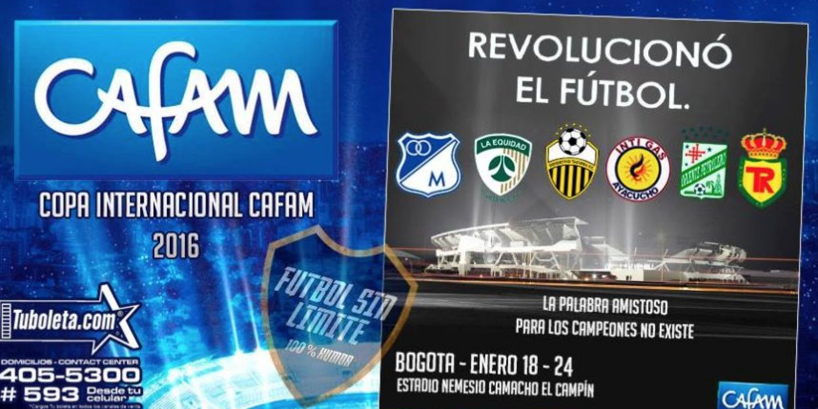 El anuncio de la falsa Copa Cafam. Foto:Facebook – Fútbol sin Límite