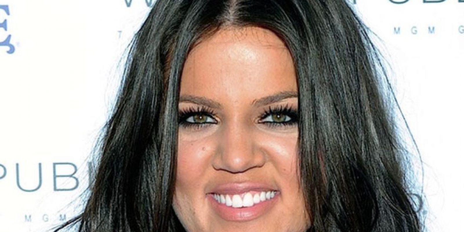 Khloé Kardashian parecía ser la más rolliza de las hermanas. Foto:vía Getty Images