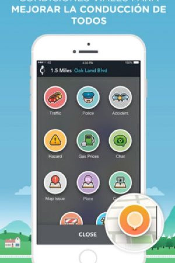 Disponible para iOS, Android y Windows Phone. Foto: Waze Inc.