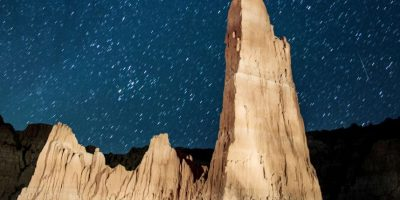 Lluvia anual de meteoritos captada el 12 de agosto de 2013 en Nevada, Estados Unidos Foto:Getty Images