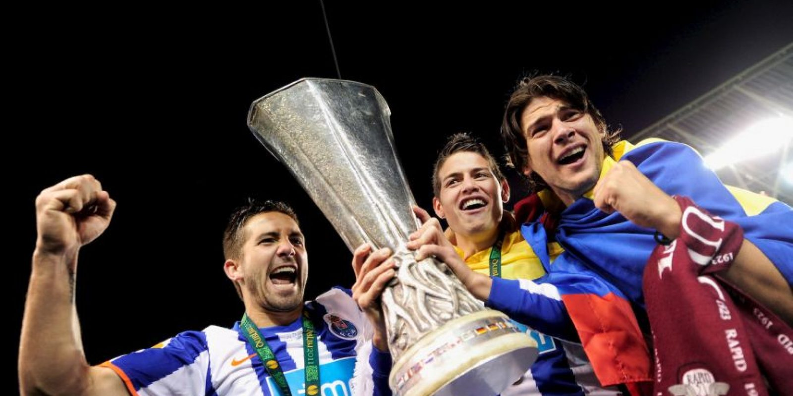 """Con los """"Dragones"""" disputó 107 encuentros y marcó 32 goles. Aquí ganó tres Ligas, tres Supercopas de Portugal, una Copa de Portugal y una Europa League (foto) Foto:Getty Images"""
