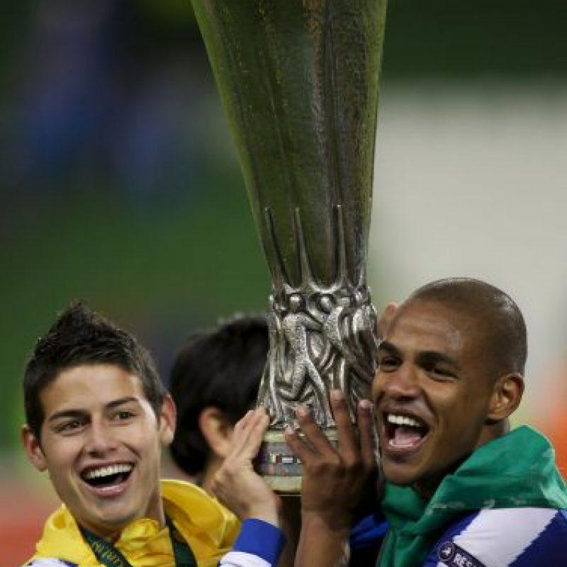 Tras jugar por Envigado FC (Colombia) y Banfield (Argentina), el primer club europeo que fichó al colombiano fue el Porto de Portugal Foto:Getty Images