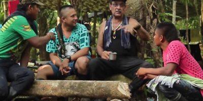 Así celebraron las Farc el fin de año en la selva Foto:Tomada de video Agencia de Prensa Rural